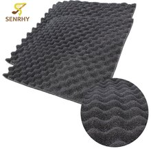 6PCS 50 x 50cm Acoustic Foam Treatment Sound Proofing Sound-absorbing Cotton Noise Sponge Excellent Sound Insulation
