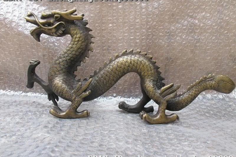 Chinese Folk classical Bronze Copper Royal Auspicious Fly Dragon StatueChinese Folk classical Bronze Copper Royal Auspicious Fly Dragon Statue