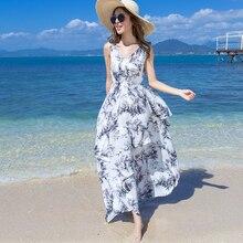 Hot Fashion Women Summer Dress Chiffon Slim Sleeveless Long Casual Beach Dresses Cute Elegant Female Vestido Plus Size