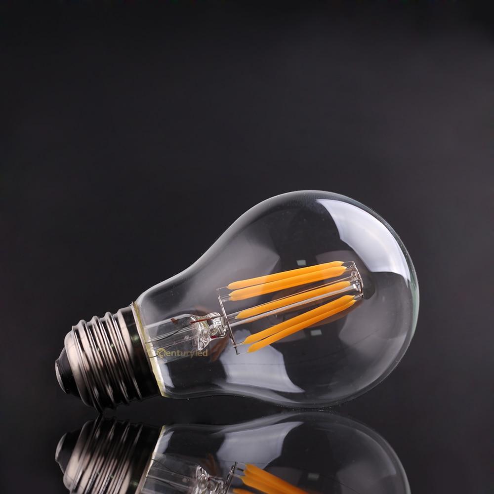buy 4w 6w 8w 10wedison a19 globe lampvintage led filament bulbwarm cool whitee26 e27 base110v from reliable led