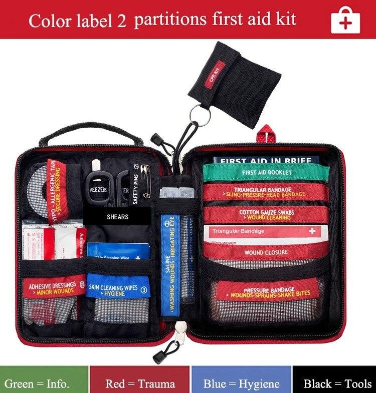 Mini équipement de survie d'urgence et trousse de premiers soins médicaux Portable sac médical de survie d'urgence pour voiture Camping voyage à la maison