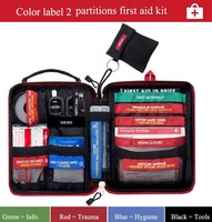 74 Pieces Pack Safe Outdoor Wilderness Survival Car Travel First Aid Kit Camping Hiking Medical Emergency