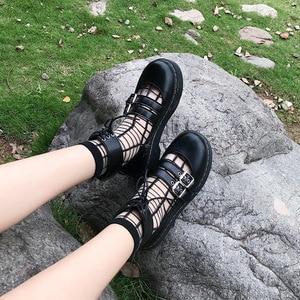 Image 5 - יפני חדש רך ילדה שני ללבוש קטן עור נעליים, עבה תחתון עגול ראש לוליטה תלמיד יפה בובת נעליים, נשים נעליים