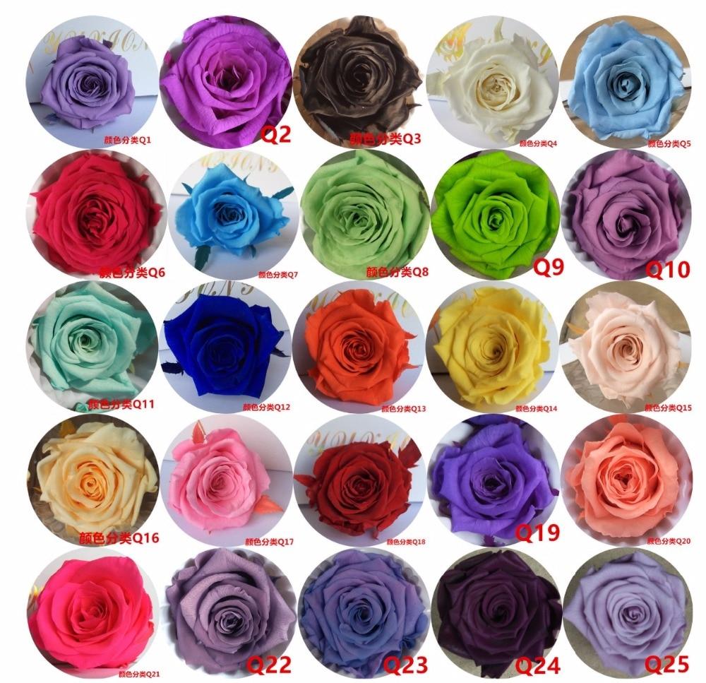 24db 2-3cm tartósított virág rózsafüzér fej esküvői party ünnep születésnapjára Velentine napja ajándék kedvence