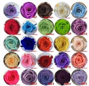 24pcs 2-3cm Preserved Flower Rose Bud Head For Wedding Party Holiday Birthday Velentine's Day Gift Favor
