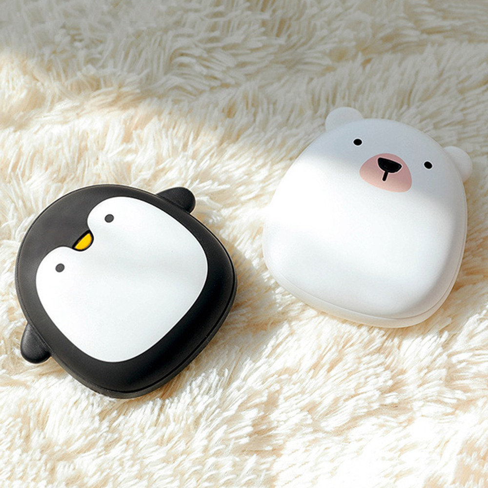 Cute Hand Warmer Pocket Rechargeable Portable Mini 5V USB Winter Powered Bank Double Heating Electric Warmer