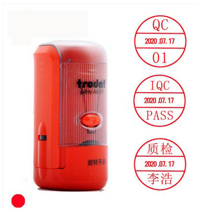 Customized self-inking QC QAPASS dates changed  stamp  for signet personal bank seal signature stamp DIY Decoration,ink changed new 220v photosensitive portrait flash stamp machine kit self inking stamping making seal holder film pad no ink