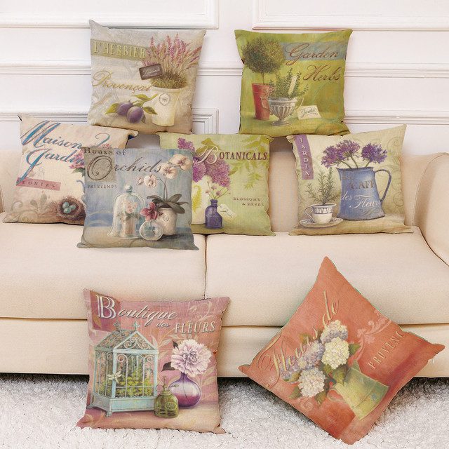 8 Modelli di Fiori Stampato Throw Pillow Caso Lenzuola Federe Cuscini Decorativi