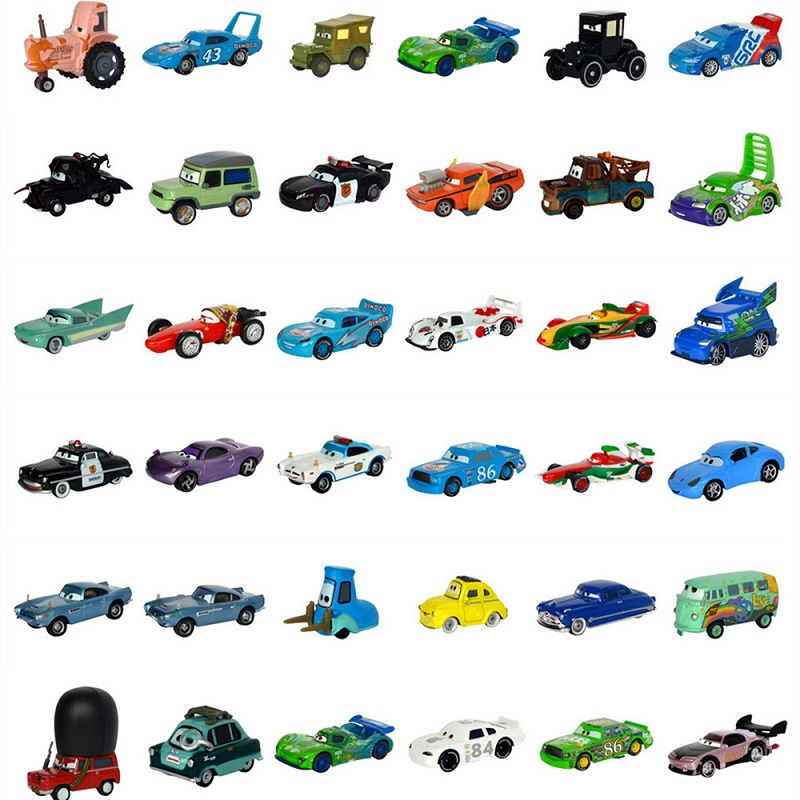Disney Pixar Car 3 27Styles Lightning McQueen Mater Jackson Storm Ramirez 1:55 Die Cast Metal Alloy Model New Toy Car Gift