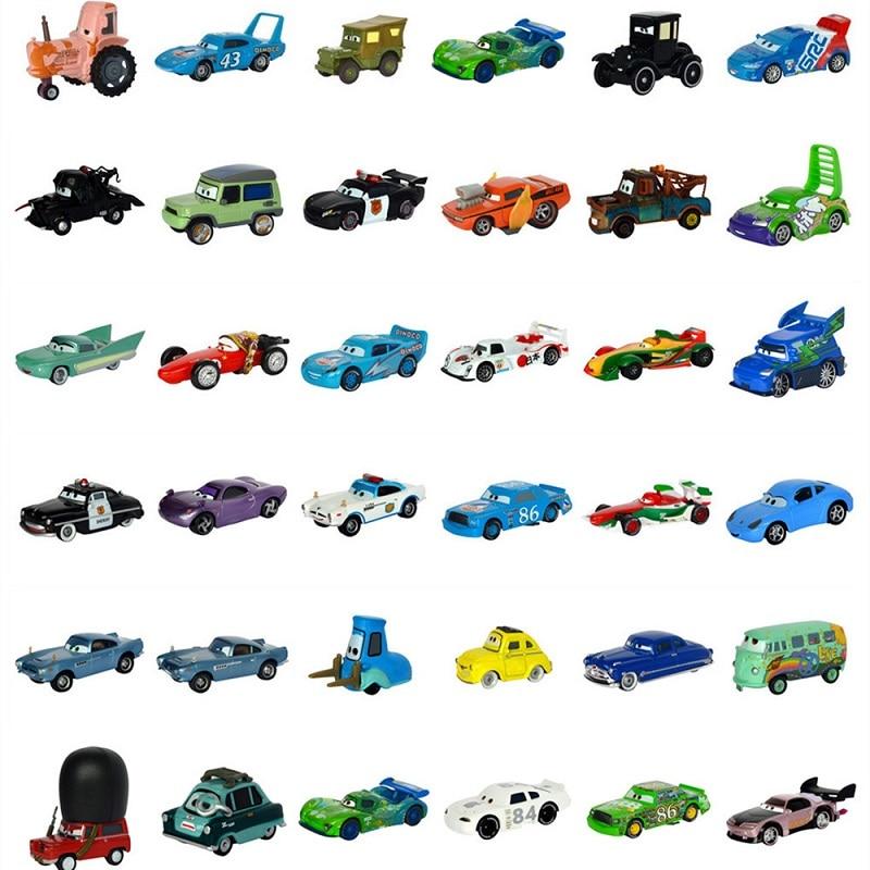 Disney Pixar Car 3 27Styles Lightning McQueen Mater Jackson Storm Ramirez 1:55 Die Cast Metal Alloy Model New Toy Car Gift