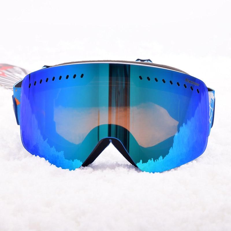 Bello Marsnow Uomini Freddi Occhiali Da Sci Anit-nebbia Uv400 Occhiali Da Neve Sci Snowboard Doppia Lente Maschera Grande Sferico Donne Wnter Eyewear