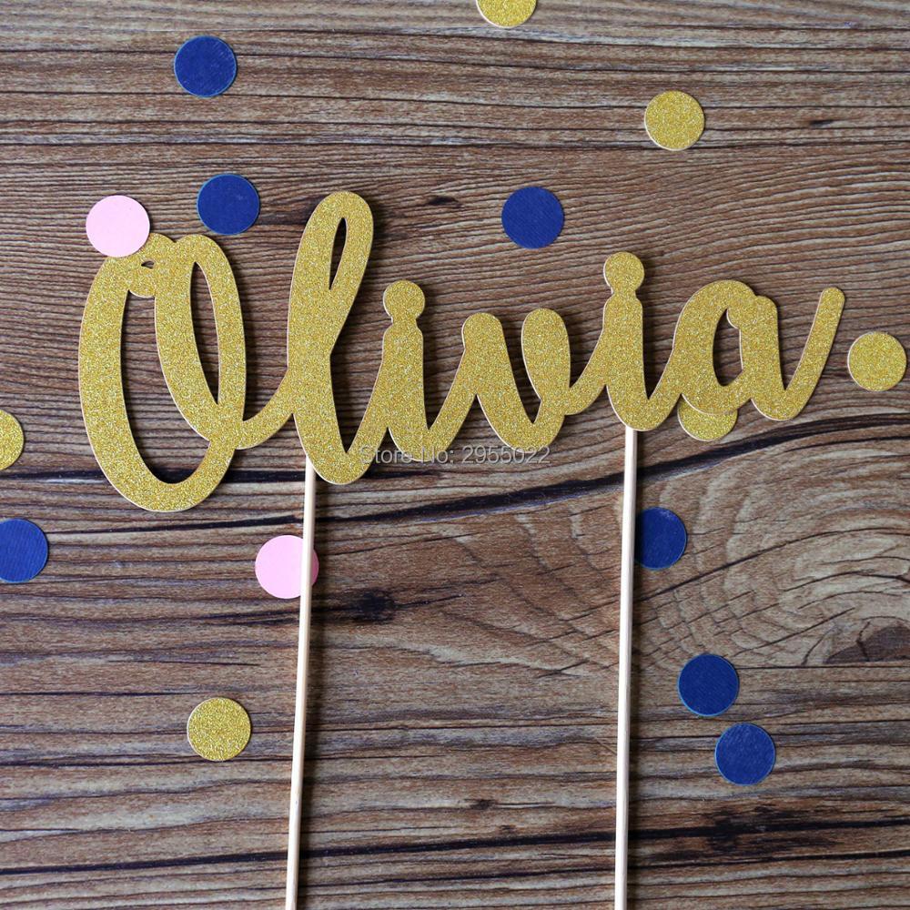 Glitter Personalisierte Name Kuchen Topper, Wort Topper, Geburtstagstorte  Dekoration, Glitter Name Topper,