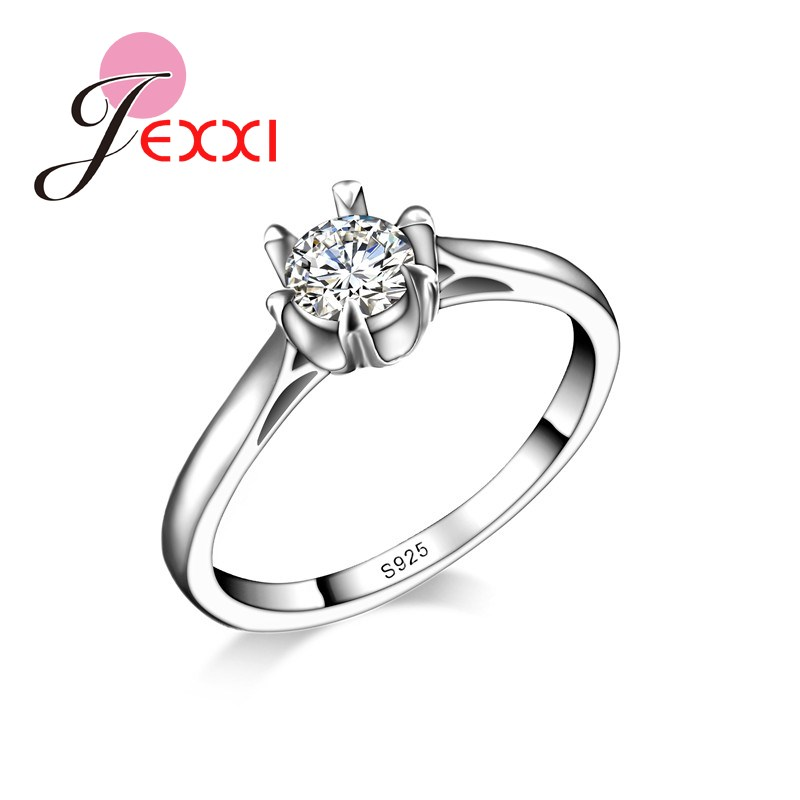 ̛ƒ ̜jexxi Exquis Gant Anneaux Mariage Pour Les Femmes Blanc Cubiz Zircon Bijoux La Mode Anneau Cristal En Gros W871