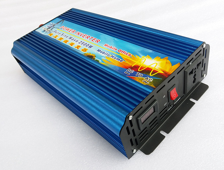 Off Grid Pure Sine Wave Solar Inverter 2500W 12V DC to 220V AC Car Power Inverter Converter 12/24V to 120V/220V Digital Display led display high frequency off grid dc to ac voltage converter 12v 220v inverter 3500w pure sine wave solar power inverter
