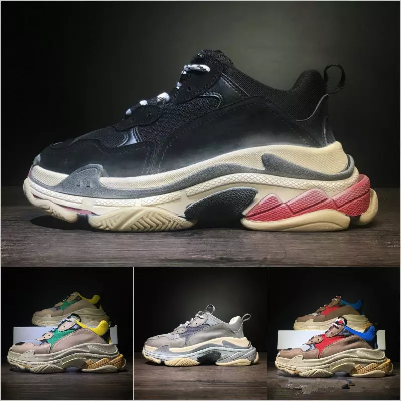 Newest BL Triple S 17FW Sneakers for men women Running shoes Vintage Kanye West Old Grandpa Trainer Sneaker outdoor boots