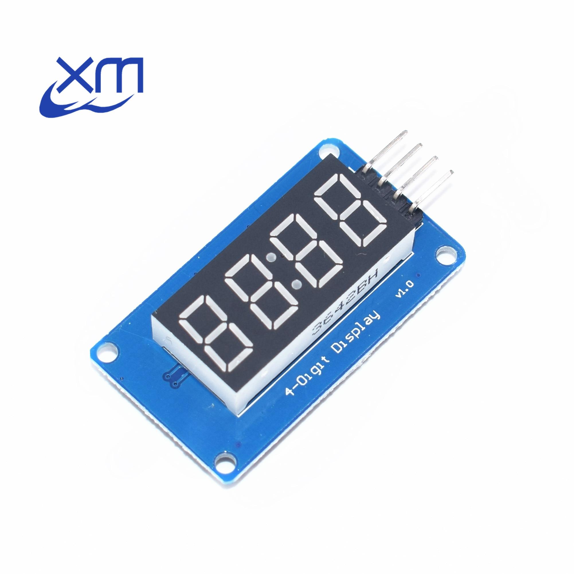 100pcs 4 Bits TM1637 Red Digital Tube LED Display Module & Clock  Free Shipping B51