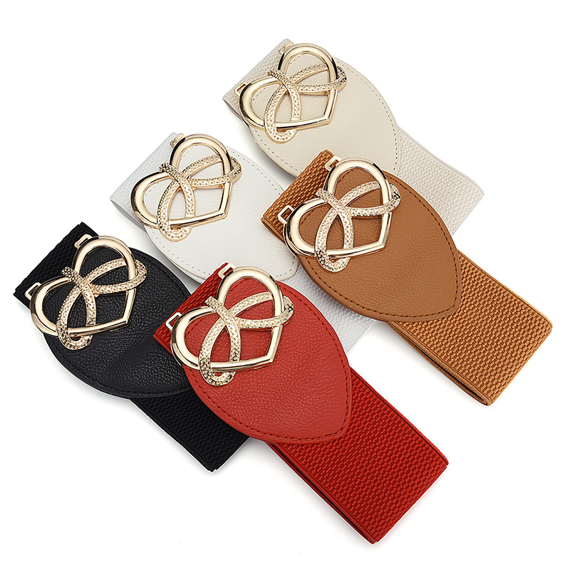 New Wide Belt Care For Button Ladies Fashion Korean Dresses Decorative Waist Seal Tightening Belt in Women 39 s Belts from Apparel Accessories