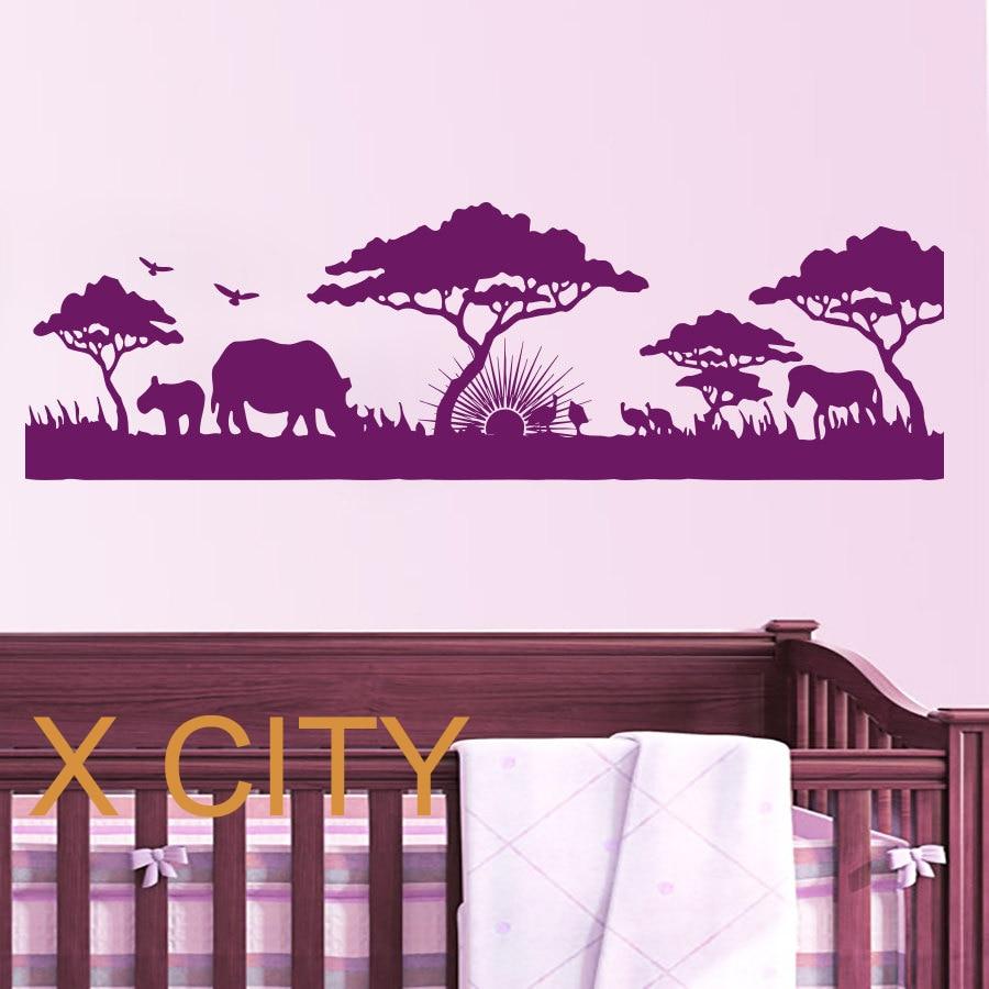 Good African Safari Landscape WALL ART STICKER VINYL DECAL DIE CUT WINDOW DOOR  ROOM STENCIL MURAL HOME Amazing Ideas