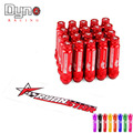 DYNO New Product  auto RYANSTAR  Aluminum alloy wheel lug nuts 20pcs flat  top +  Length 92MM  20pcs  lug nuts 12*1.5
