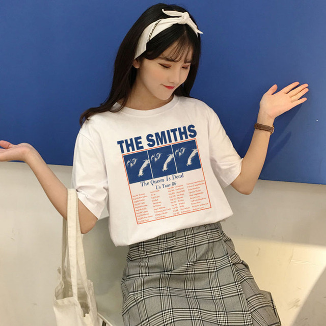 71a6e081019 The Smiths The Queen is dead Us tour 86 T Shirt Summer Casual Fashion Fun  New T-shirt Harajuku Women s Short Sleeve Tops tees