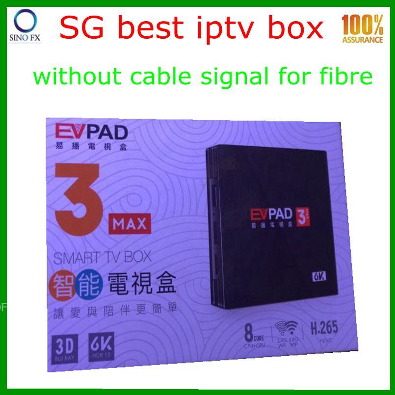 New arrival Singapore Best iptv box EVPAD 3MAX permanent free live channels  and massive movie drama 1 year warranty Evpad 3