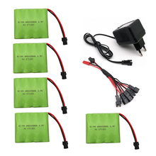 4.8V 2400mAh Ni-MH Battery With 5 in 1 Charger