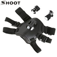 撮影フェッチ犬ハーネス胸移動プロヒーロー9 8 7黒sjcam Sj4000 xiaomi李4 18k eken h9rプロアクションカメラアクセサリー