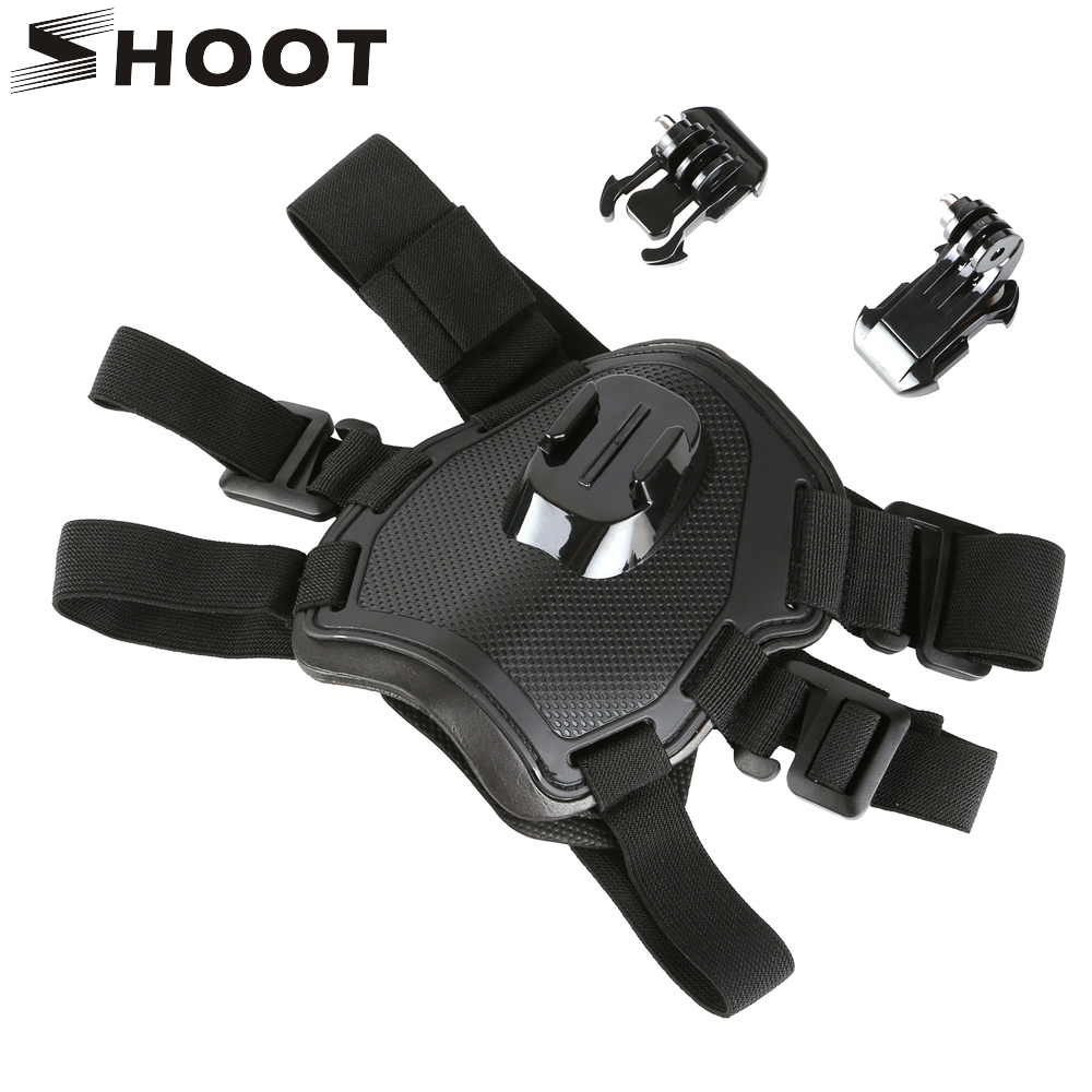 SHOOT Fetch Dog Harness Chest Strap for GoPro Hero 6 5 7 Black Sjcam Sj4000 Xiaomi Yi 4K Eken H9r Go Pro Action Camera Accessory shoot jaws flex clamp mount for gopro hero 7 6 5 xiaomi yi 4k sjcam eken h9r with bucket tripod holder for go pro hero accessory