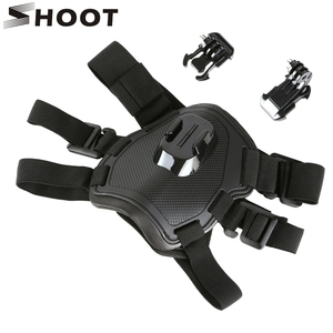 Image 1 - SHOOT Fetch arnés para el pecho para GoPro Hero 9, 8, 7, negro, Sjcam, Sj4000, Xiaomi Yi, 4K, Eken, H9r, Go Pro, accesorio para cámara de acción