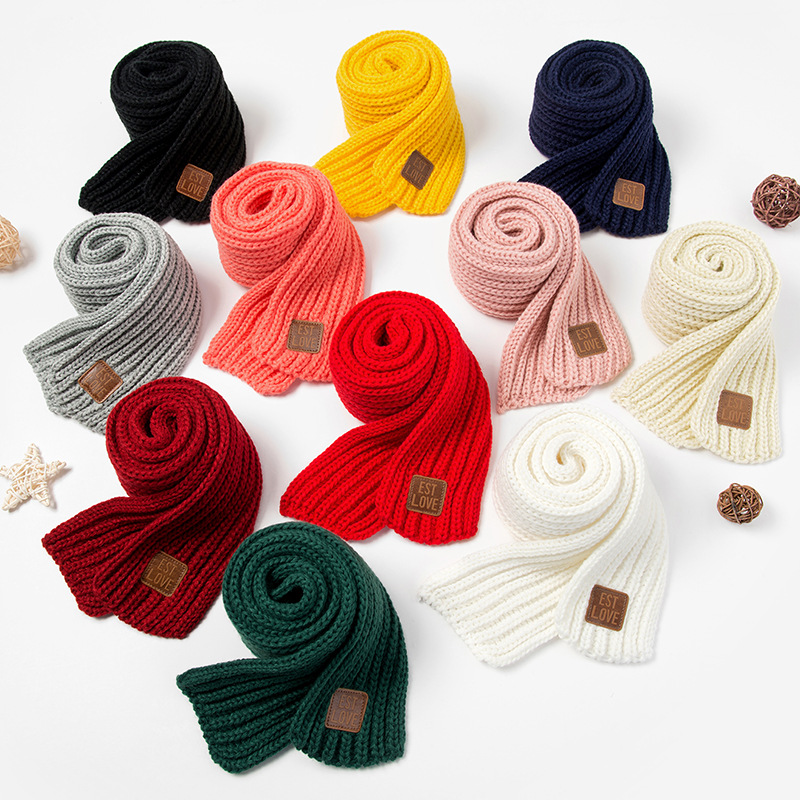 1PC New Fashion Kids Scarf Boys Girls Baby Winter Warm Scarf Women Knitting Wool Shawl Scarf Children Neck Warmer Accessories