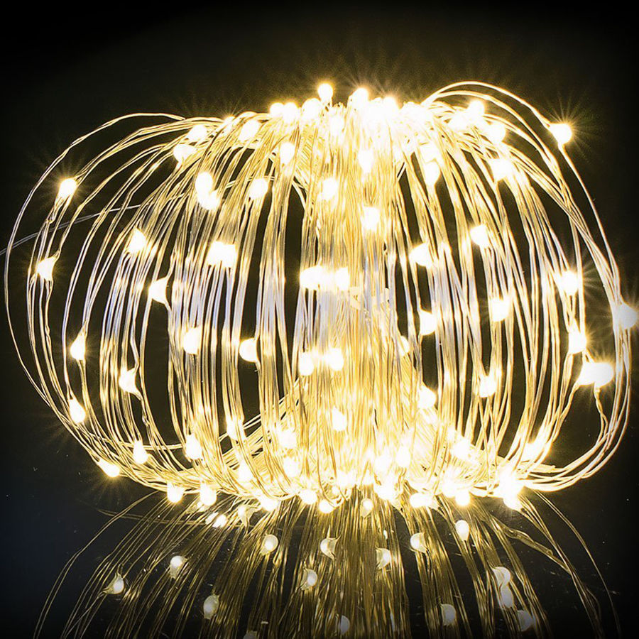 buy solar powered led string lights 10m 20m copper wire fairy light for. Black Bedroom Furniture Sets. Home Design Ideas