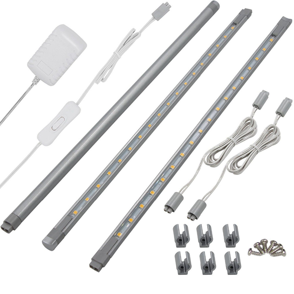 Lights Of America Led Wall Pack: 3 Pack LED Linkable Super Bright & Slim Cabinet Lights Bar
