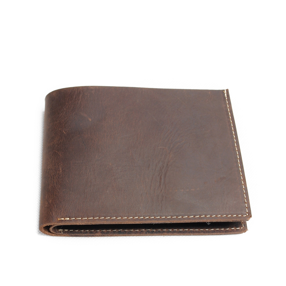Wallet Genuine Leather Men Leather Genuine Men 39 s Bulls Man Vintage Grazy Horse Cowhide Leather Short Purse Coin Pocket in Wallets from Luggage amp Bags