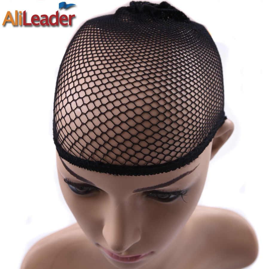 Известный Alileader Hairnets хорошее качество сетка Ткачество Сетка Черная сетка для волос для сна/сеточка для изготовления париков сетка нейлоновая шапочка для париков