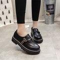 Мода 2017 Весна Женская Oxfords Обувь Slip On Искусственной Кожи Oxfords для Женщин Повседневная Комфорт Женская Обувь БЫЛЬ & 17068