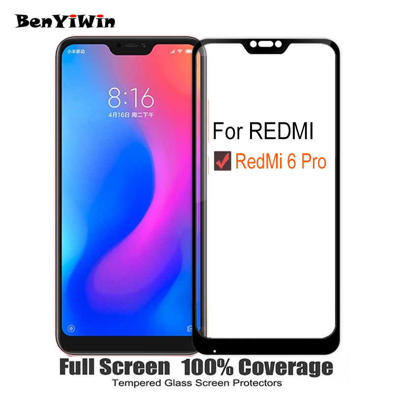 100% Protection 9H Full Display Tempered Glass For Xiaomi Redmi 6 Professional Scratch Proof Protecting Movie Case For Redmi6 Professional Movie Glass