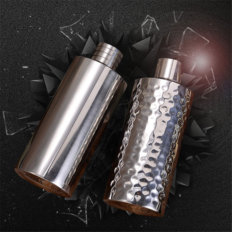 Creative 500ml Uneven/Mirror Surface Water Wine Bottle Vodka Whisky Flagon Thick 18/8 Stainless steel alcohol Liquor Hip Flask