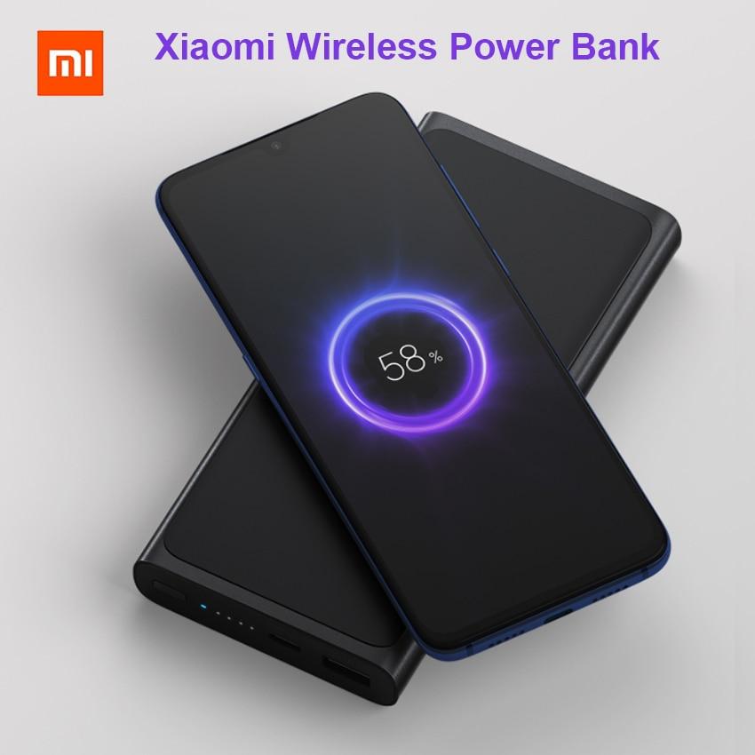 Xiao mi mi 10000 mAh Qi batterie externe sans fil PLM11ZM Charge rapide 10000 mAh Powerbank batterie externe pour iPhone Samsung Huawei