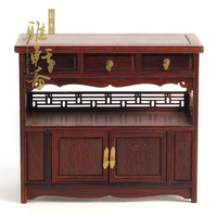 A hundred years old] miniature furniture mahogany crafts rosewood furniture of Ming and Qing Dynasties three bed Fang Mingqing