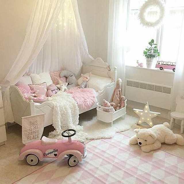 Kinderzimmer baby mädchen  Baby Betthimmel Kinder Krippe Netting Nordischen Stil Kinderzimmer ...