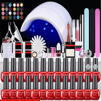 New Nail Polish Gel Manicure Suit Acrylic Nail Art Tips Liquid Buffer Glitter Deco Tools Full Women Decoration Accessories Tools