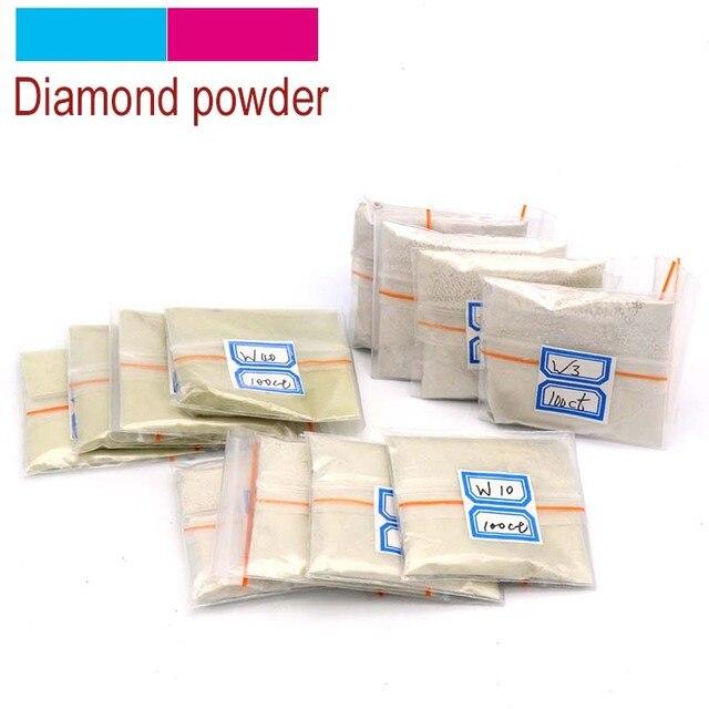 100 quilates/20g W0.5 a W40 en polvo de pulido de diamantes micras en polvo de pulido herramientas para piedras preciosas Jade cerámica de carburo