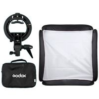 Godox 40x40cm Softbox + S Type Bracket Bowens Holder+ Bag Kit for Camera Flash
