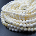 Wholesale Full Strand 6/8/10/12mm White Shell Round Beads Mother Of Pearl Buddhism Mala Beads For Jewelry Making DIY Accessories
