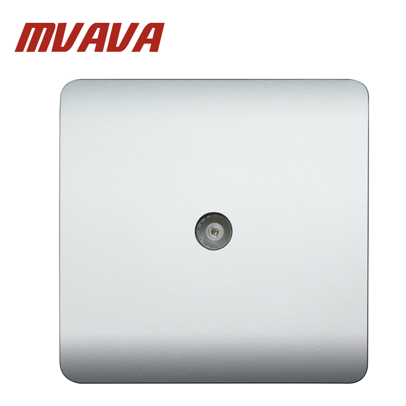 MVAVA New Arrival Best Price Electric TV Aerial Socket Wall Mount Coaxial Outlet Plate P ...