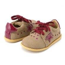 Tipsietoes 새로운 디자인 여자 패션 신발 2 색 정품 가죽 수제 어린이 키즈 운동화