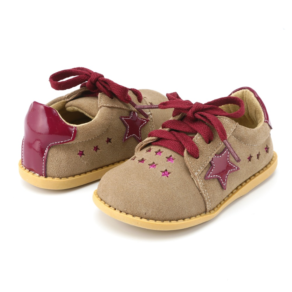 Tipsietoes New Designs Girls Fashion Shoes 2 Colors Genuine Leather  Handmade Children  Kids Sneakers-in Leather Shoes from Mother & Kids