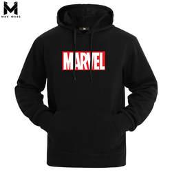 2019 осень и зима бренд кофты для мужчин Высокое качество MARVEL Письмо печати мода s толстовки утолщенной Толстовка