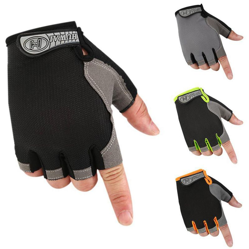Men Women Outdoor Bicycle Riding Climbing Half Finger Gloves Cycling Gloves Summer Sports Fitness Shockproof Bike Glove Hot fitness gloves thin spring summer outdoor sports fitness riding army fans fighting semi finger gloves