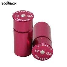 Tourbon casquillos de munición para caza, calibre 12, de aluminio, entrenamiento táctico, reutilizable, reciclado, 2 uds.